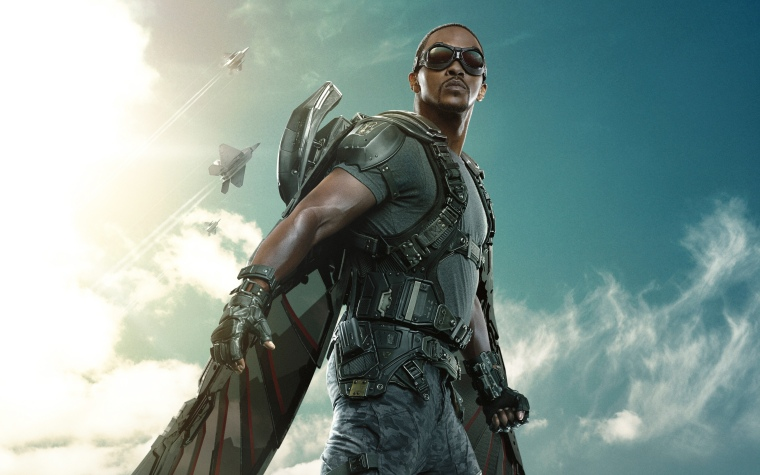 The Falcon, played by Anthony Mackie