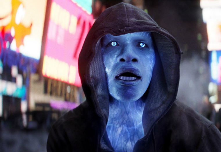 Marilyn Manson -- er, Electro -- raids Times Square, looking confused.