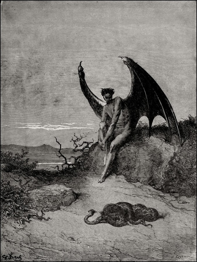 The prints from Paradise Lost by Gustave Doré are incredibly beautiful.
